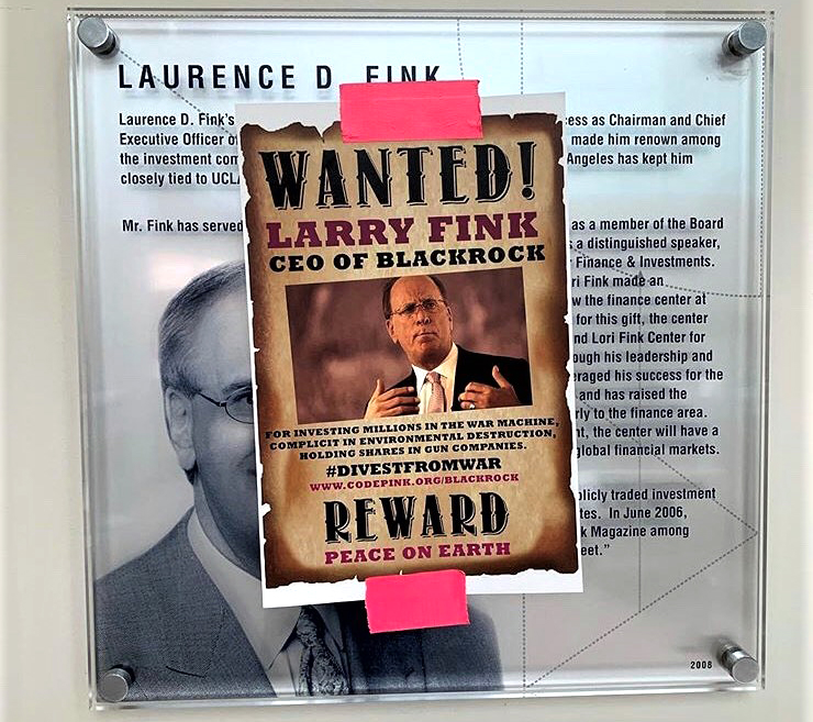 Protesting Larry Fink
