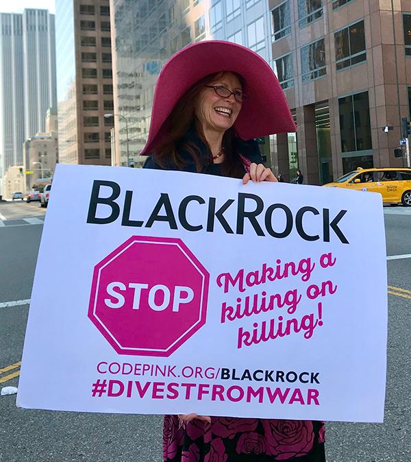 Protesting BlackRock