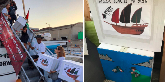 Photo-by-Ann-Wright-of-Medical-Supplies-being-loaded-onto-Al-Awda-and-boxes-painted-by-Naples-Italy-artists.png