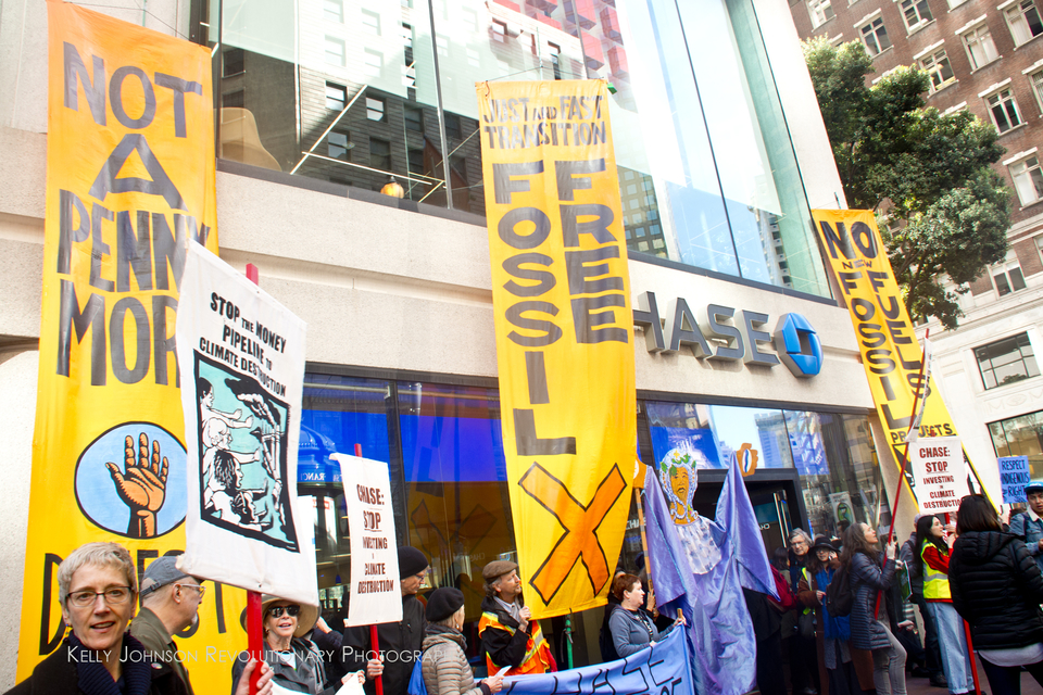 Stop the Money Pipeline @ Chase Day 2 @ Downtown Oakland