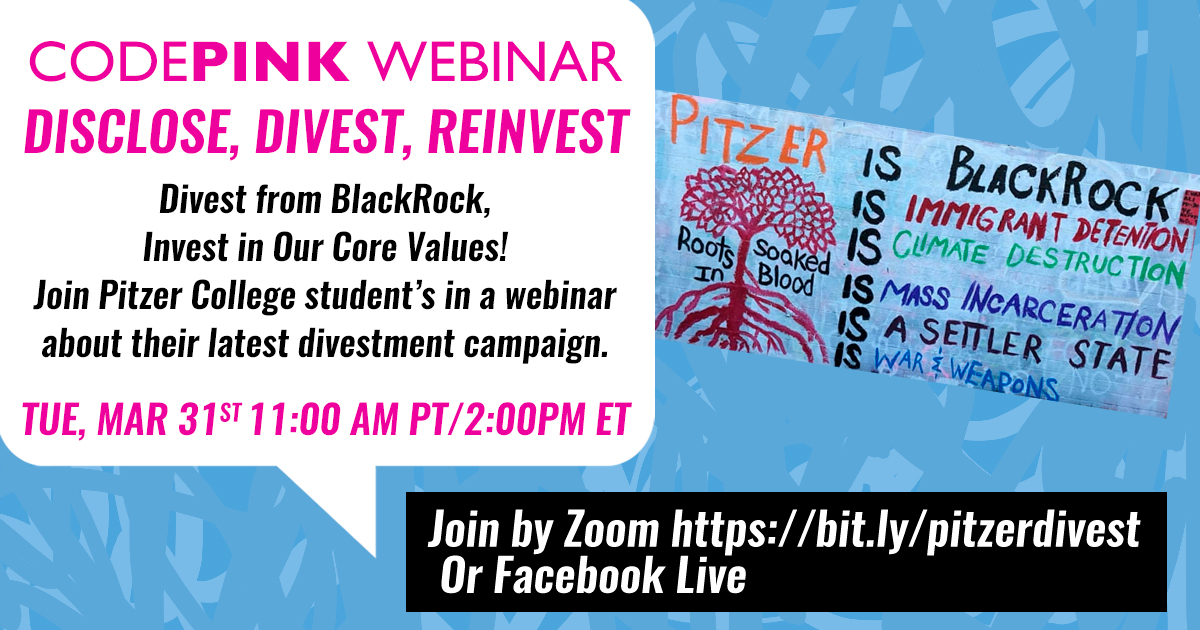 WEBINAR: DISCLOSE, DIVEST, REINVEST: PITZER COLLEGE @ Live on Facebook
