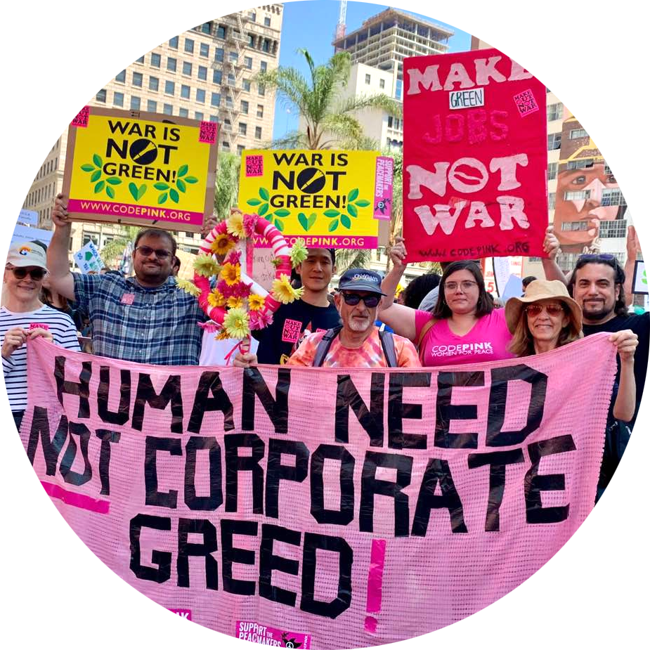 |We need to transform our priorities from hyper-militarism towards serving and healing our people at home and spreading peace and justice in the world. Now is the time Divest From The War Machine. Take action below.