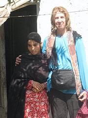 Sara Davidson with a student