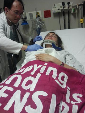 Rae in Hospital