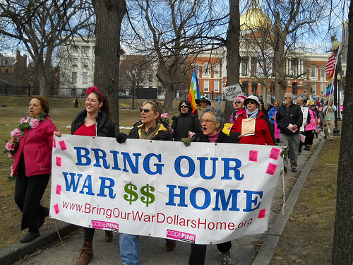March from State House MA