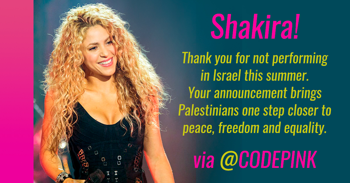 Her Hips Don T Lie And Neither Does Her Voice For Justice Codepink Women For Peace