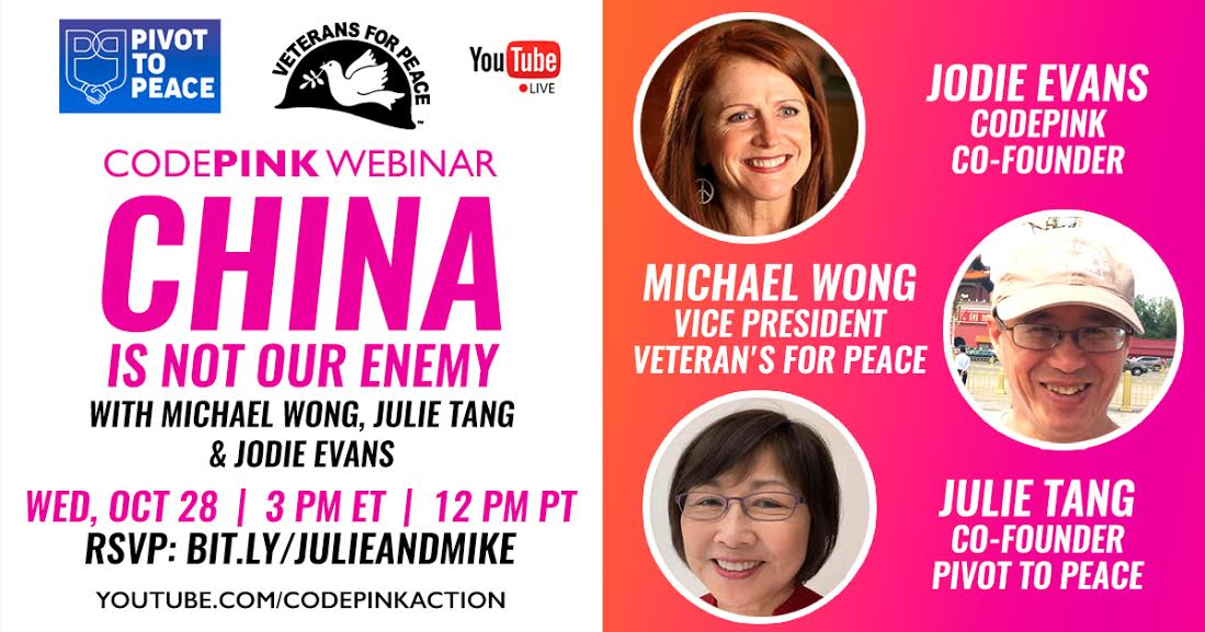Webinar: China is not the Enemy.