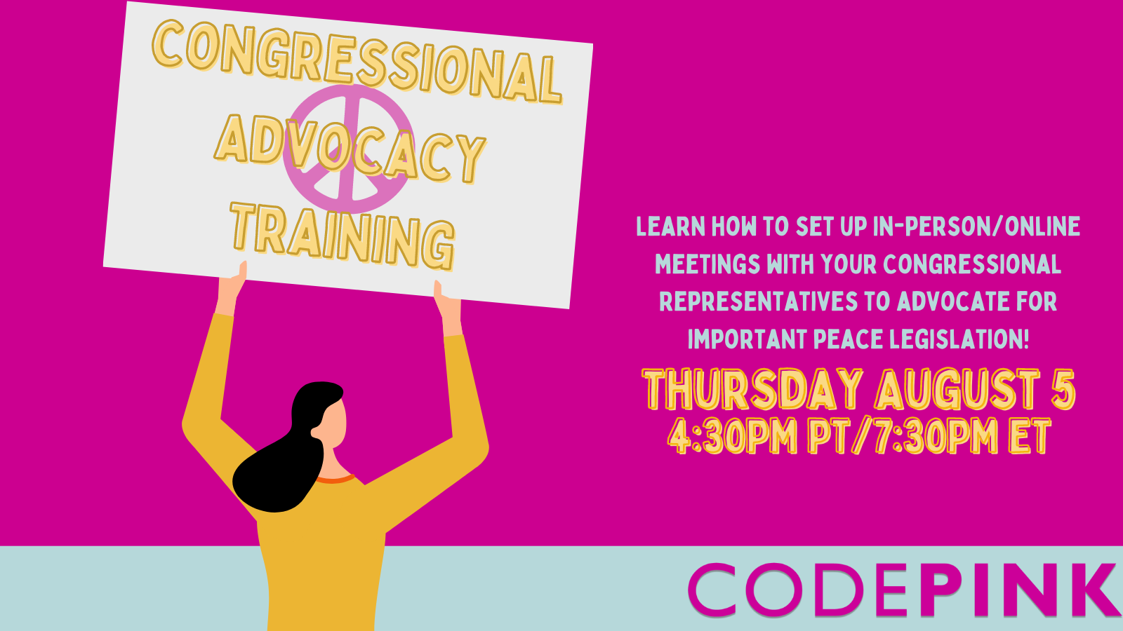CODEPINK Congressional Advocacy Training - CODEPINK - Women for Peace