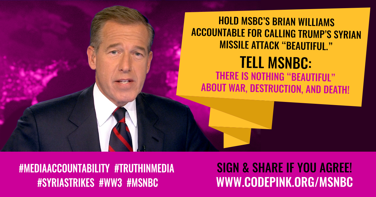 MSNBC: There's Nothing Beautiful about War | CODEPINK