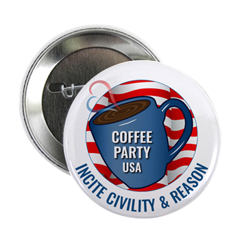 """Coffee Party USA 2.25"""" button 