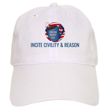 Baseball Cap | Coffee with Friends | Coffee Party USA | Incite Civility & Reason