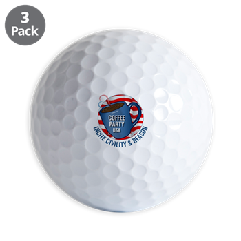 Coffee Party USA Golf Balls (Set of 3) | Coffee with Friends | Merchandise (via Cafe Press)