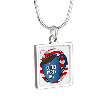 Necklace with Coffee Party USA charm Coffee with Friends | Merchandise (via Cafe Press)