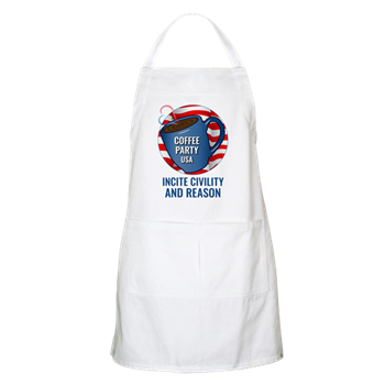 Coffee Party USA Apron | Coffee with Friends | Merchandise (via Cafe Press)