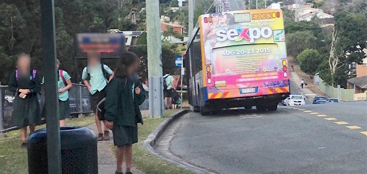 Take action: 'sex' advertisements on school bus routes