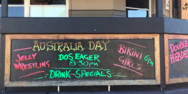 WIN! NSW pub cancels Australia Day jelly-wrestling after pressure from women