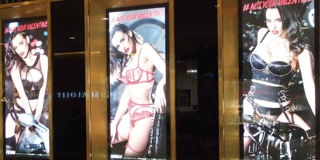 Porn-style image in shopping malls: How 'Male Champions' fail to address sexism