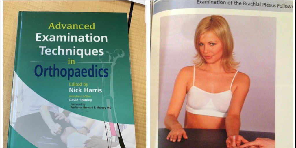 Women sexually objectified in medical textbook