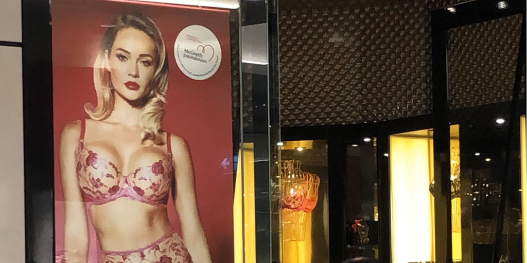 Media Release: Breast cancer charity instructs removal of Honey Birdette signage