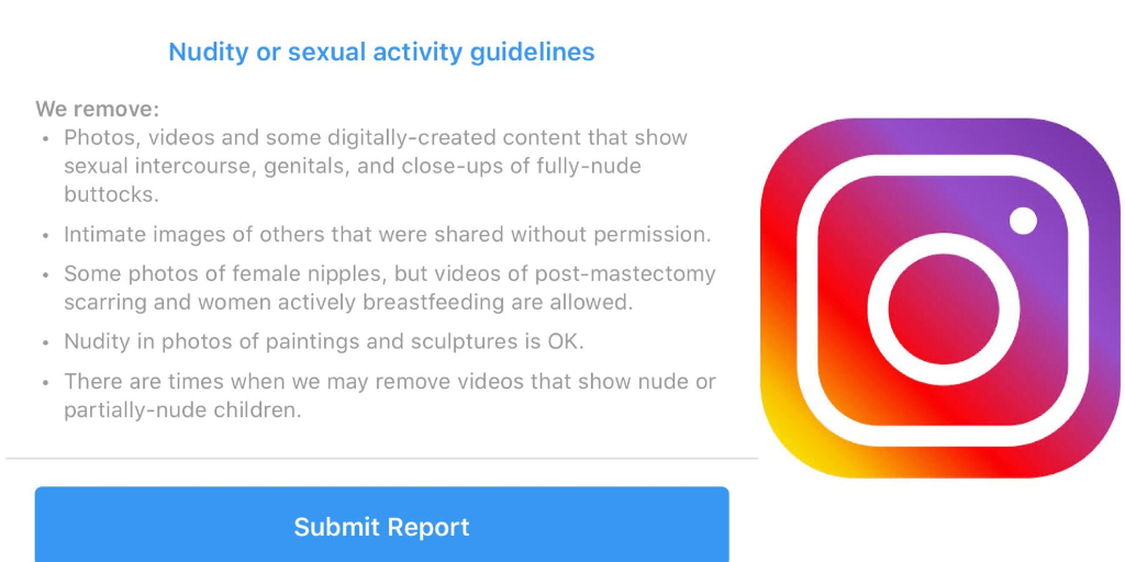 Instagram CEO says 'can't post nudity'. Why did we have to repeatedly report content to police?