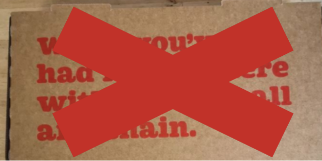 Bubba Pizza withdraws sexist pizza boxes