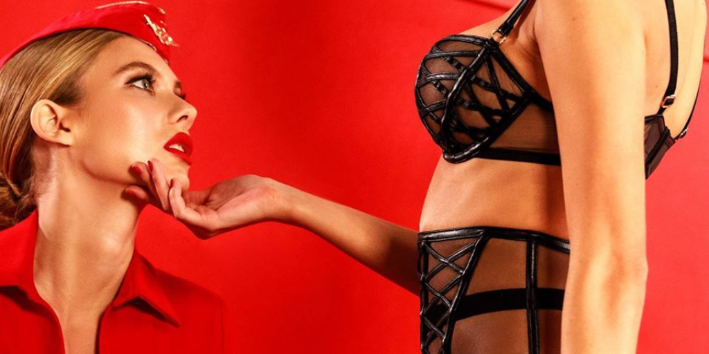 """It makes my job harder"": Flight attendant responds to Honey Birdette pornified ad campaign"