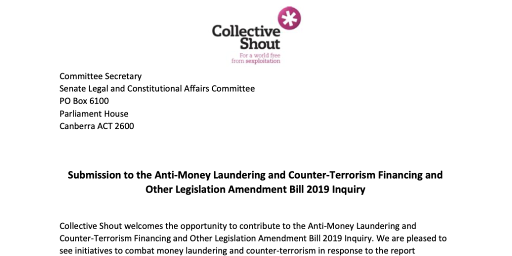 Submission to Anti-Money Laundering and Counter-Terrorism Financing Inquiry