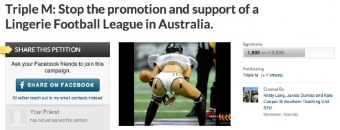 Scrap the Lingerie Football League and support women's sport says 14 year old Texus