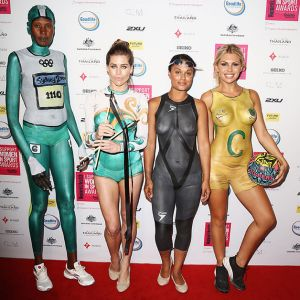 I support women in sport awards includes topless women