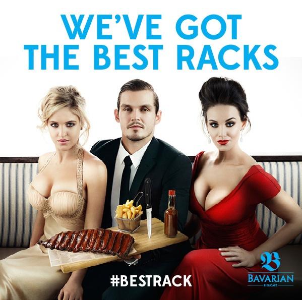 """Bavarian Bier Cafe """"best rack"""" ad treats women like meat ..."""