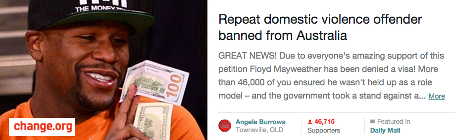 Win! Floyd Mayweather's visa denied due to domestic violence convictions