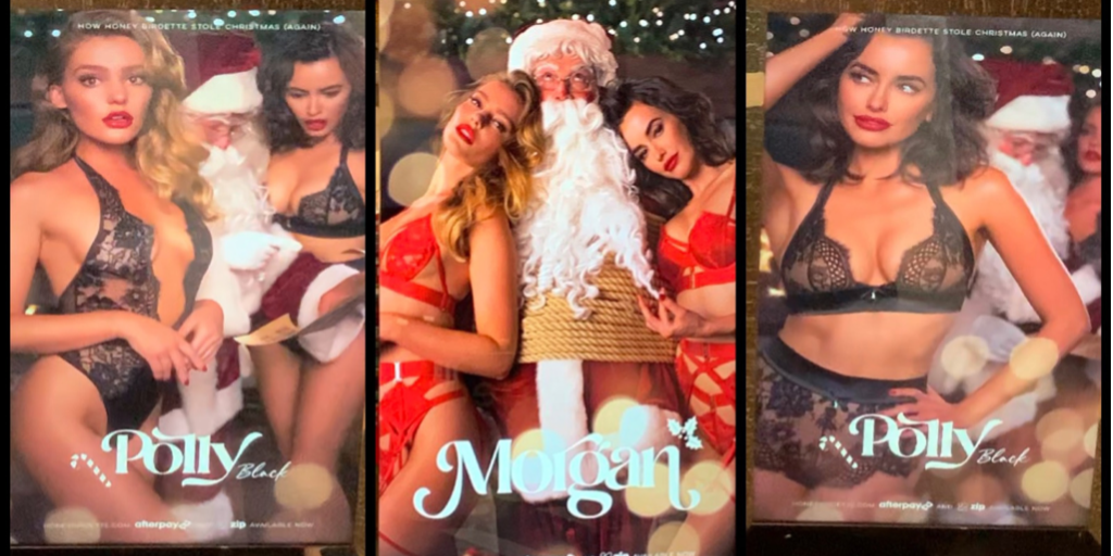 Sex shop 3-way bondage-Santa: Happy Christmas from your local shopping mall