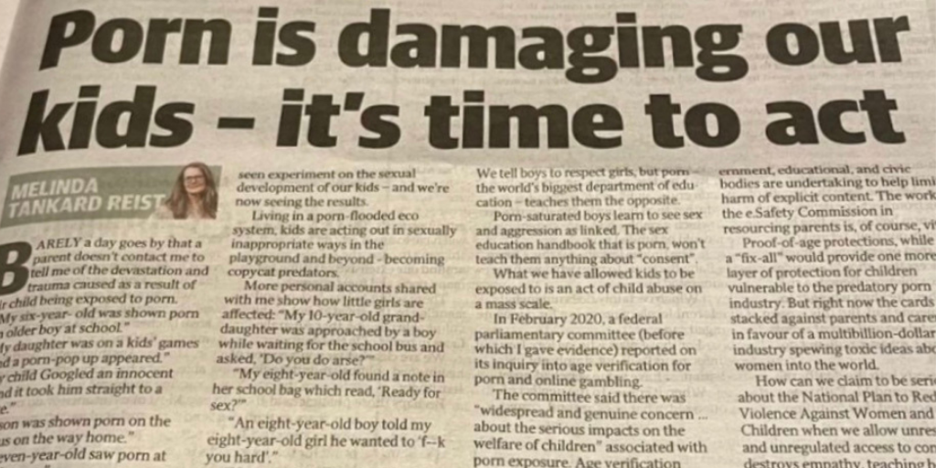 MTR opinion piece in Courier Mail: 'Ready for sex?' Horror note found in eight-year-old's bag