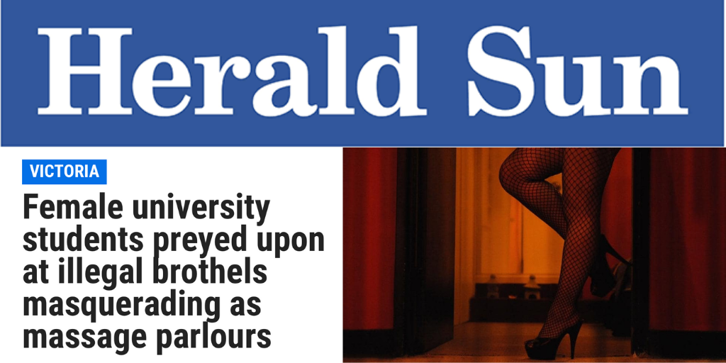 Sex industry preys on uni students: Campaigns Manager Caitlin Roper comments on Herald Sun investigation