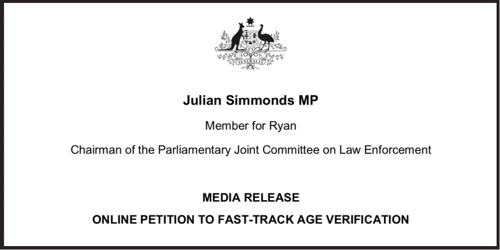 Federal Member Julian Simmonds launches petition to fast-track porn protections for kids