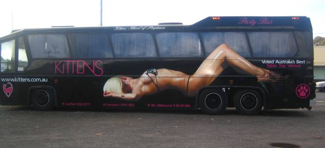 Ad Standards Board gives green light to Kittens carwash striptease bus ad