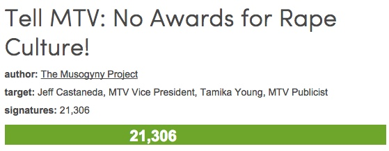 Tell MTV: No awards for rape culture and Robin Thicke's