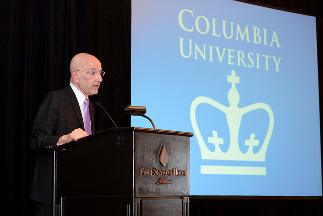 Peter Awn at Podium, Columbia University Miami Alumni