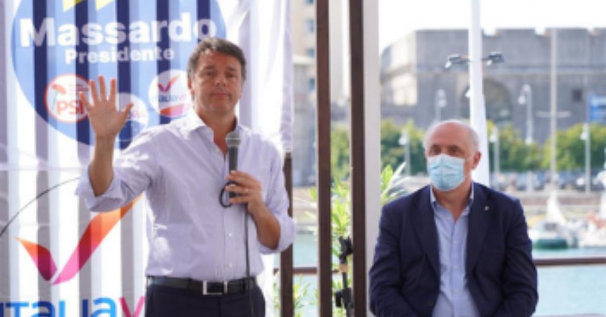 """Liguria, Renzi: """"Questa Regione soffre, la vera alternativa è Massardo. Dico no a populisti e sovranisti"""