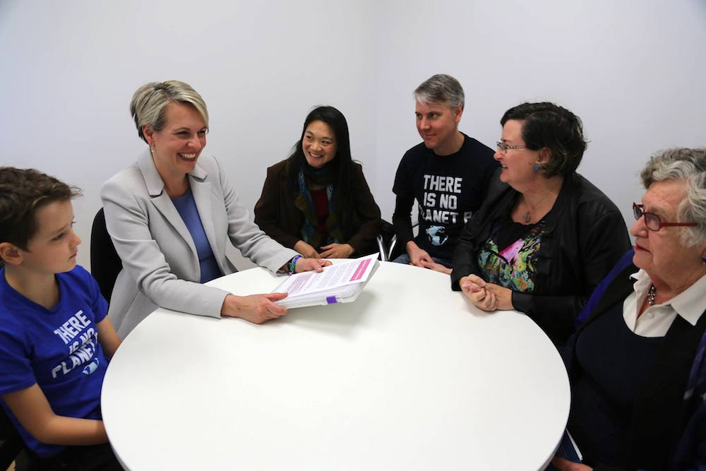 Meeting with Tanya Plibersek to delivery our petition.