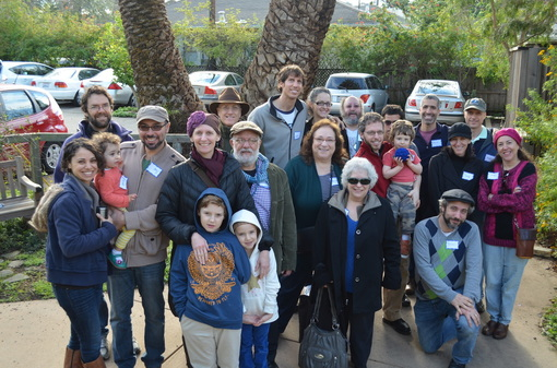 Berkeley Moshav members visiting Berkeley (CA) Cohousing