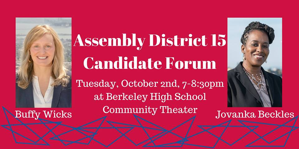 AD15 Candidate Forum 10/2 at BHS Communityy Theater