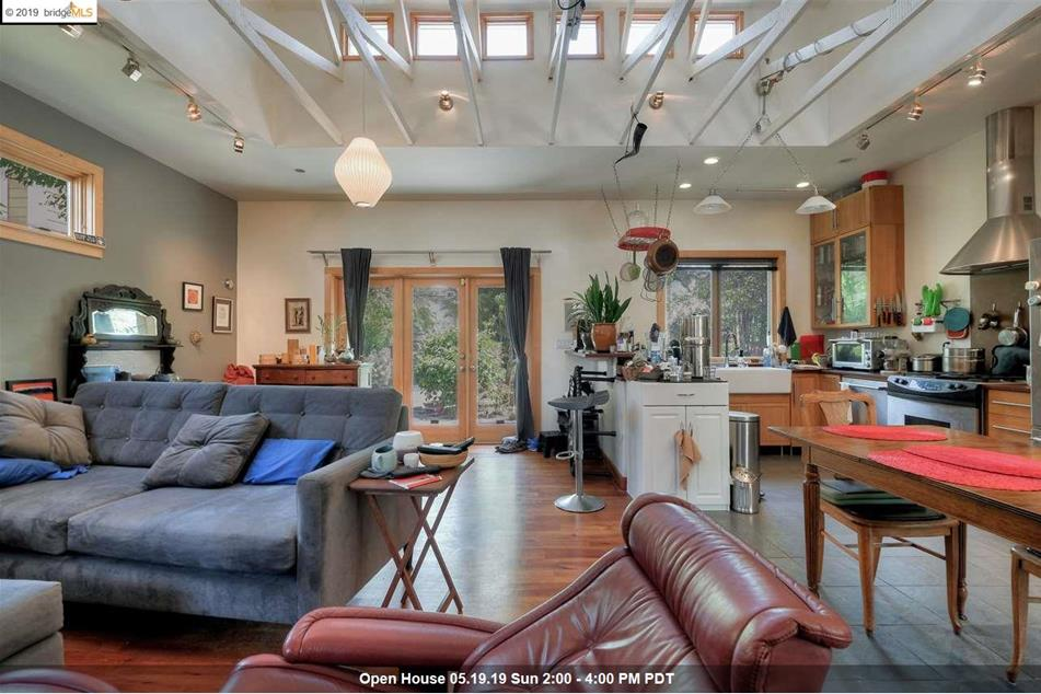 Large open space in single-family home for sale next to Mariposa Grove Cohousing