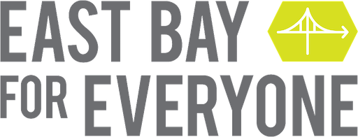 East Bay for Everyone logo: Bridge with arrows plus text
