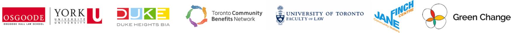 Community Benefits Creating Opportunities Summit Partner Logos