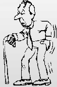 cartoon of human with backache