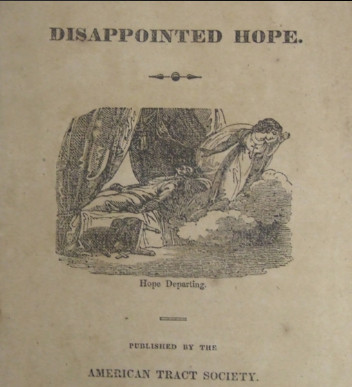 image of deathbed scene on cover of tract