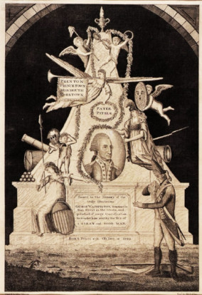 image of engraving of monument