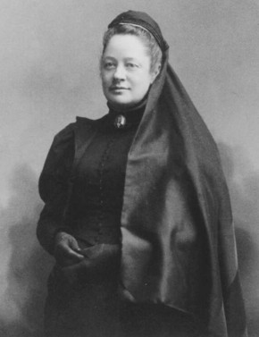 image of woman dressed in black