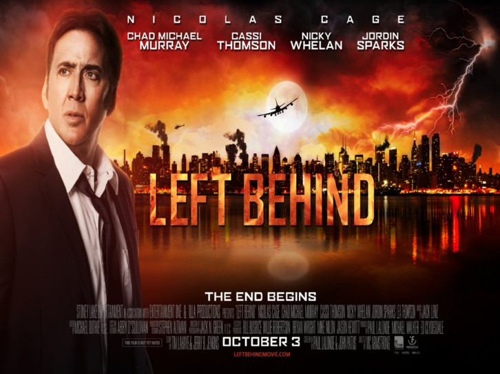 advertisement for 2014 movie 'Left Behind'